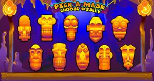 Big Kahuna - Pick a Mask bonus game