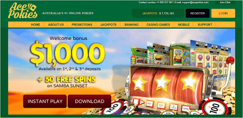 Ace Pokies Casino Layout