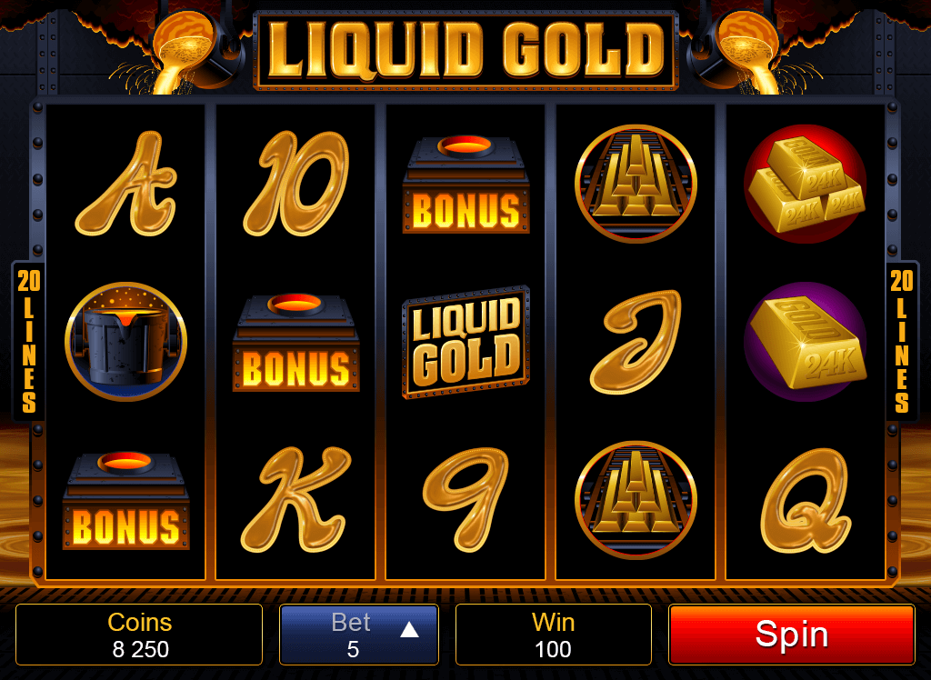 Liquid Gold Online Pokies Betting Options