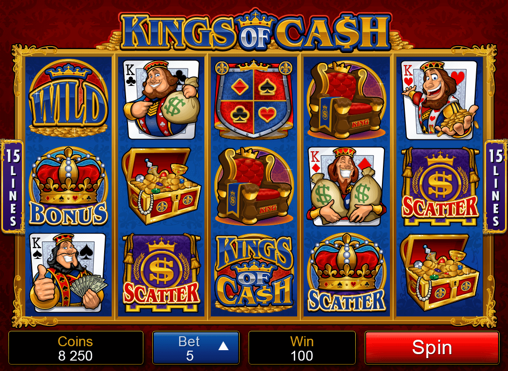 Kings of Cash Pokies Betting Choice