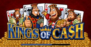 Kings of Cash Mobile Pokies Game Logo