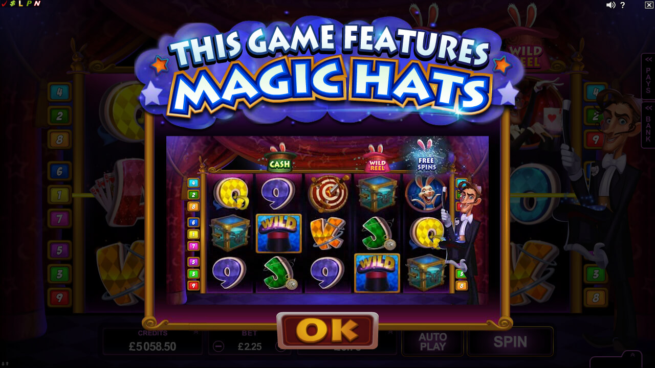 Rabbit in the Hat online video pokies base game