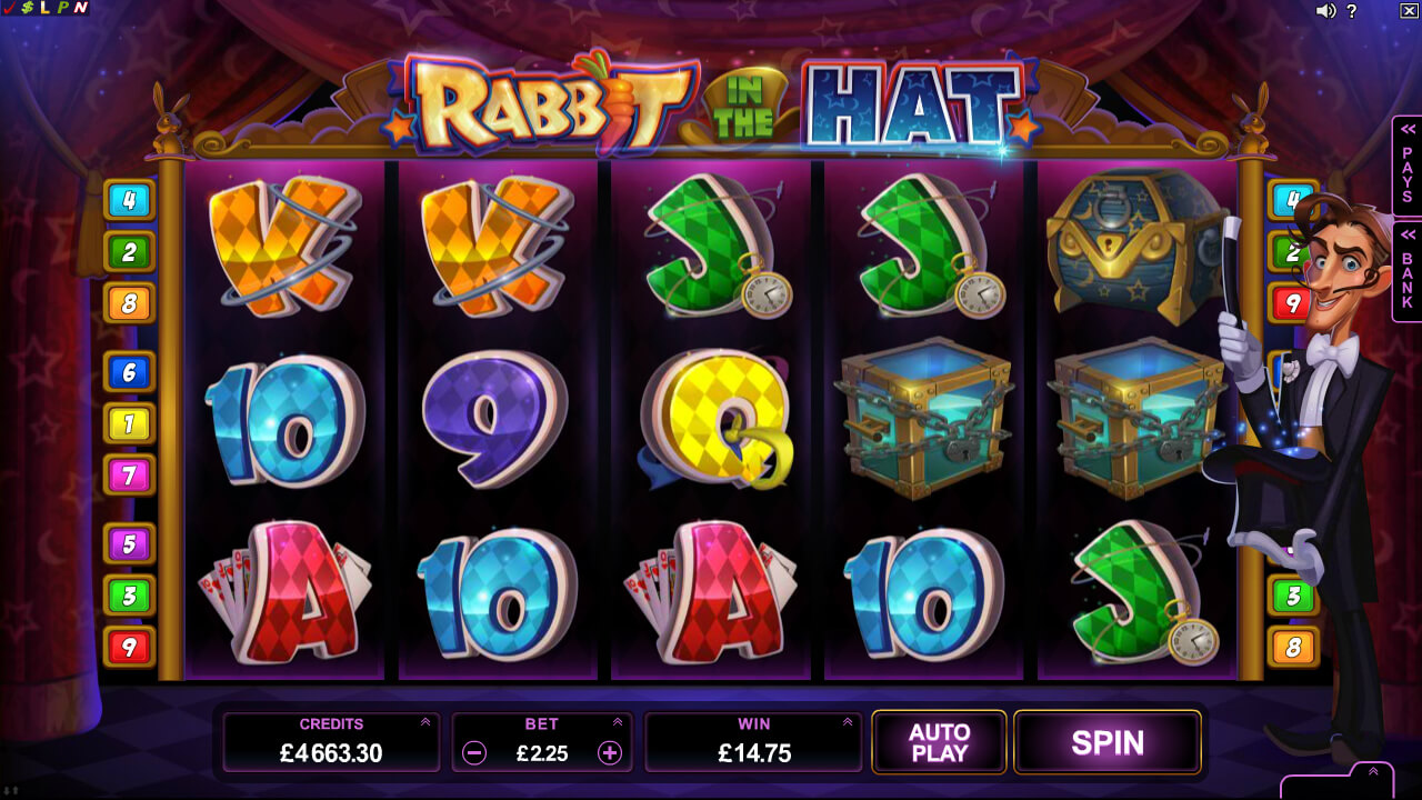 Rabbit in the Hat online video pokies