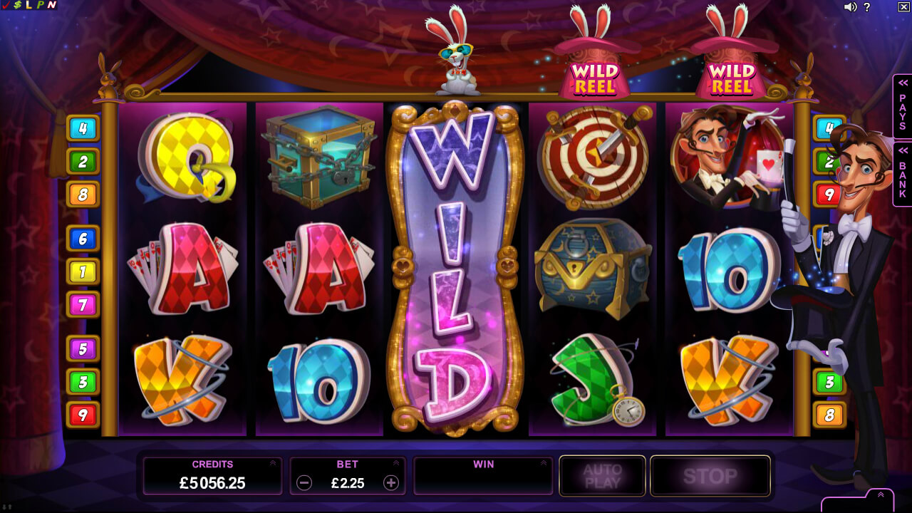 Rabbit in the Hat online video pokies - wilds