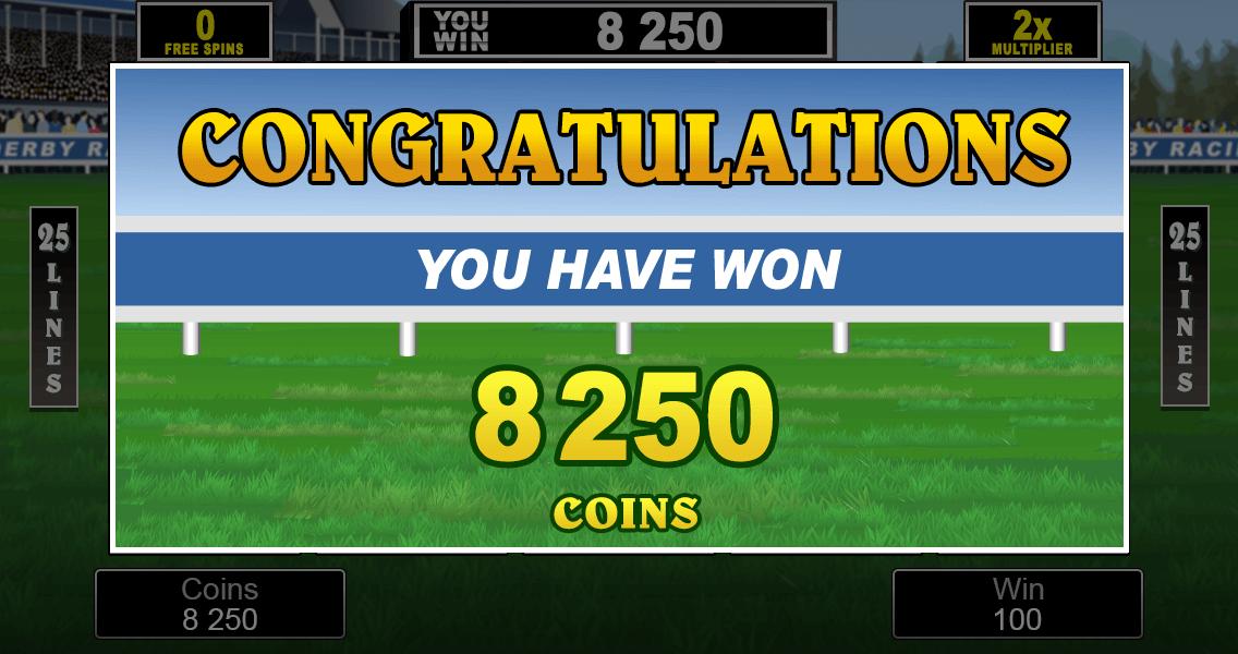 Sure Win photo showing 8250 credits