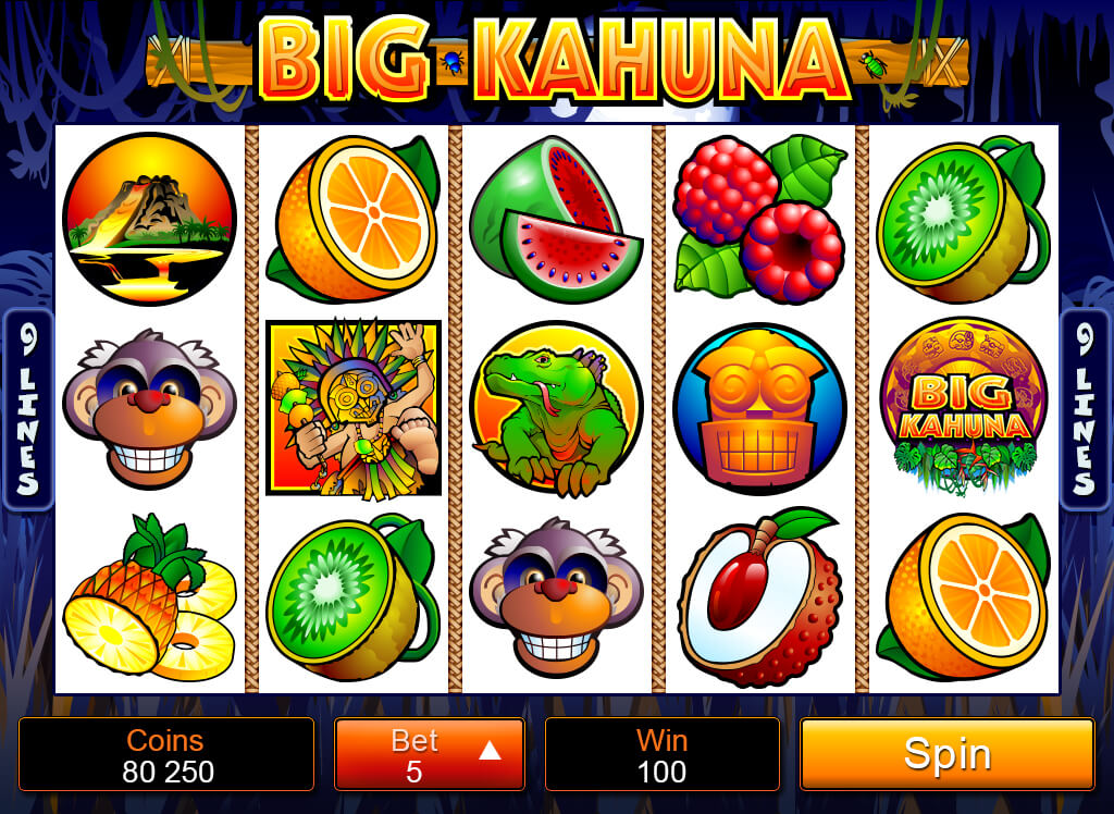 Play And Win Big Kahuna Mobile Pokies
