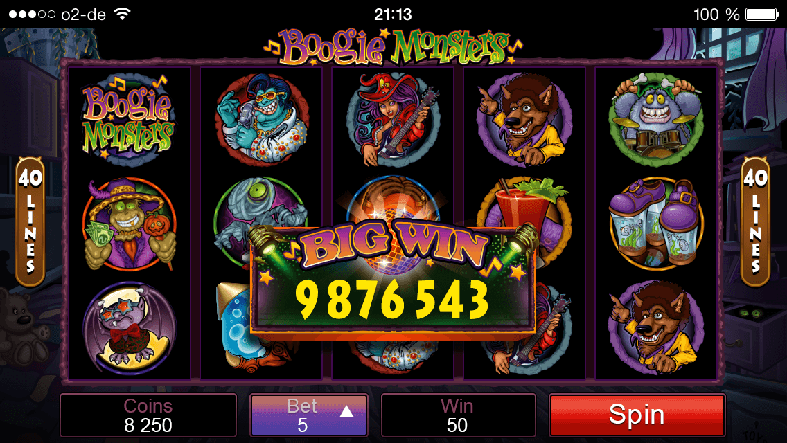 Boogie Monsters Betting-Options