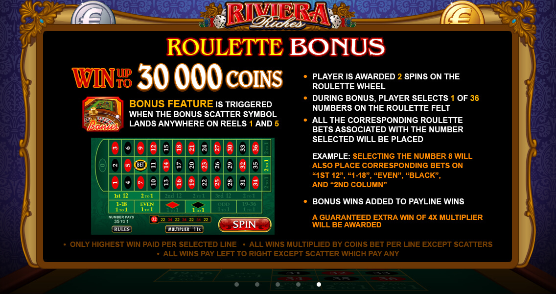 Riviera Riches Pokies Screenshot
