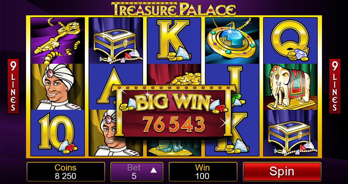 Treasure Palace Pokies Winning Screenshot