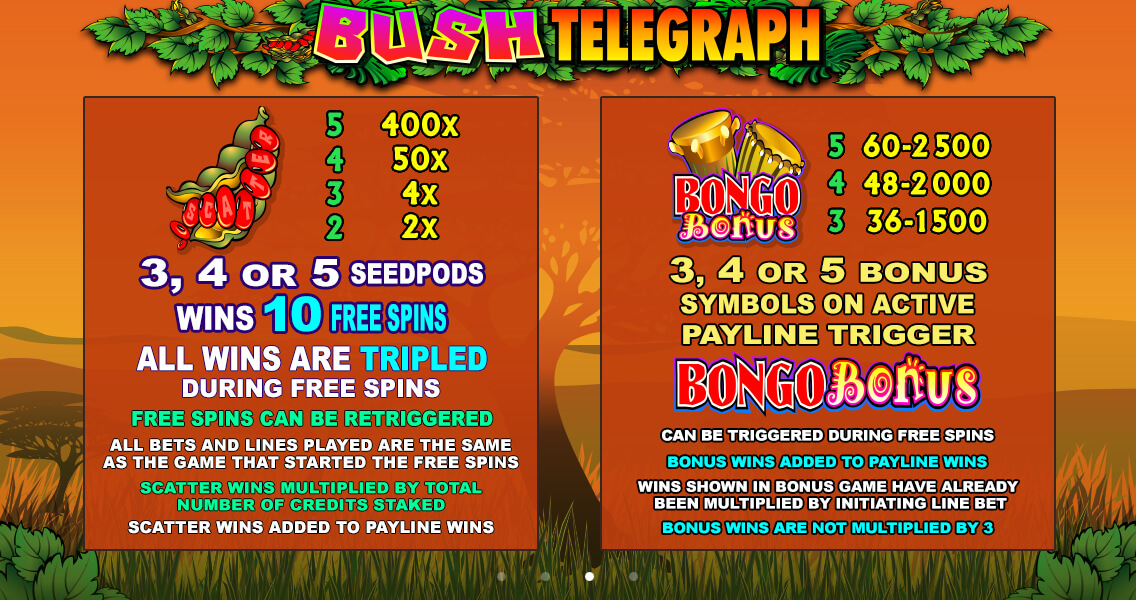 Bush Telegraph wilds and free spins