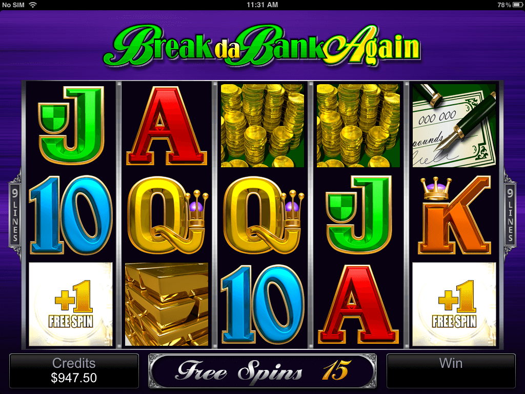 Free Spins In Break da Bank Again Mobile