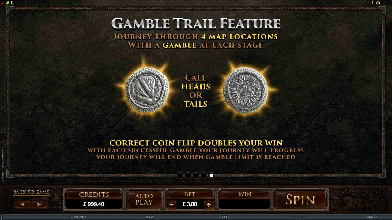 Game Of Thrones Gamble Feature