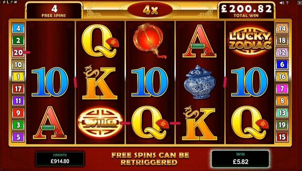 Lucky Zodiac online pokie game