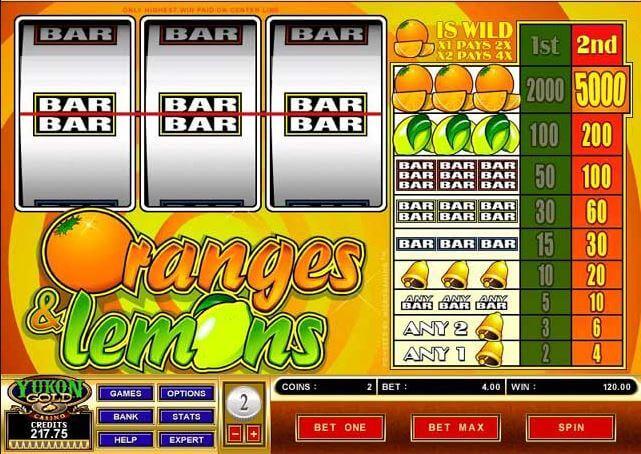 Oranges and Lemons online pokies