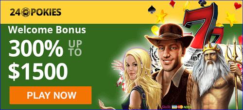 24 Pokies Bonuses