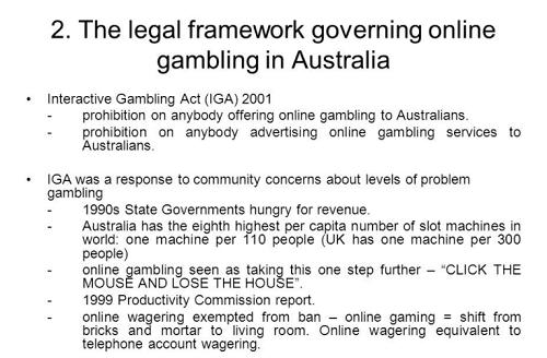 Interactive Gambling Act 2001