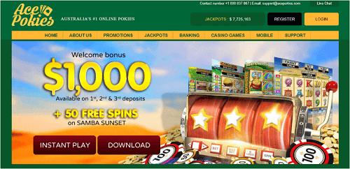 Ace Pokies Casino Layout