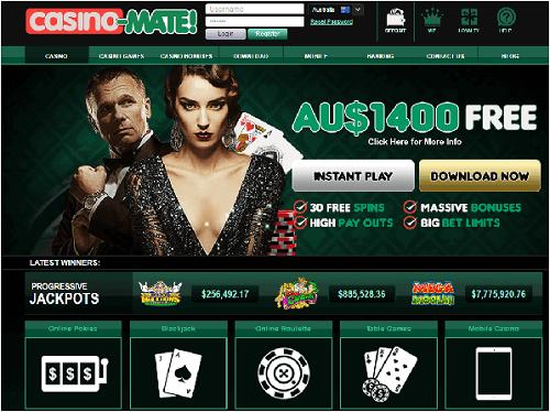 Casino-Mate Progressive Jackpots