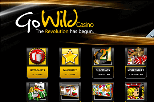 GoWild Casino Layout