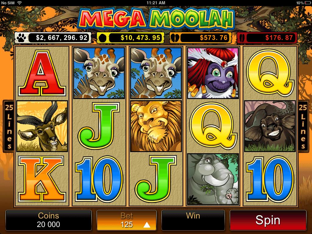 Mega Moolah Online Pokies - Base Game Coins