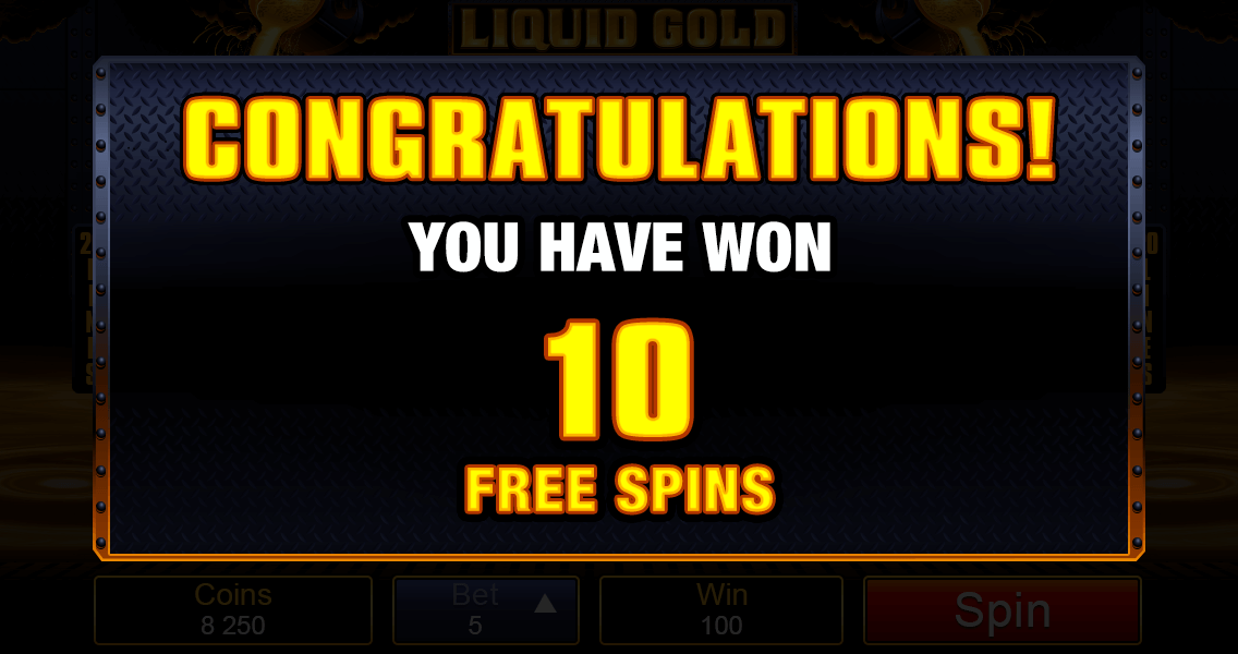 Liquid Gold Pokies Free Spins