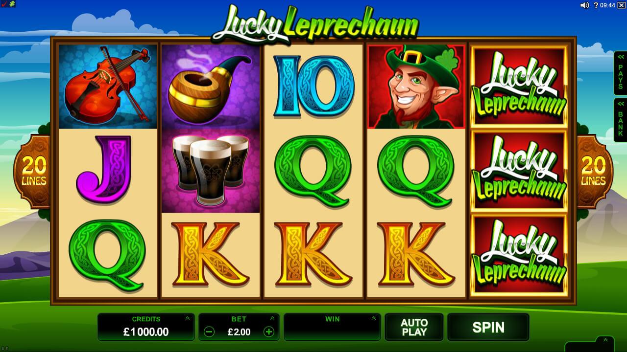 Lucky Leprechaun pokie - Base Game