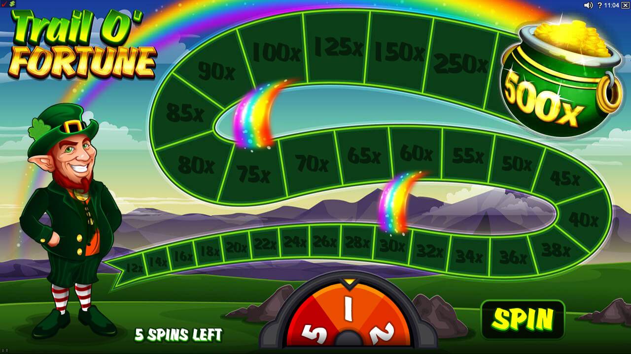 The Trail O'Fortune bonus screenshot - Lucky Leprechaun pokie