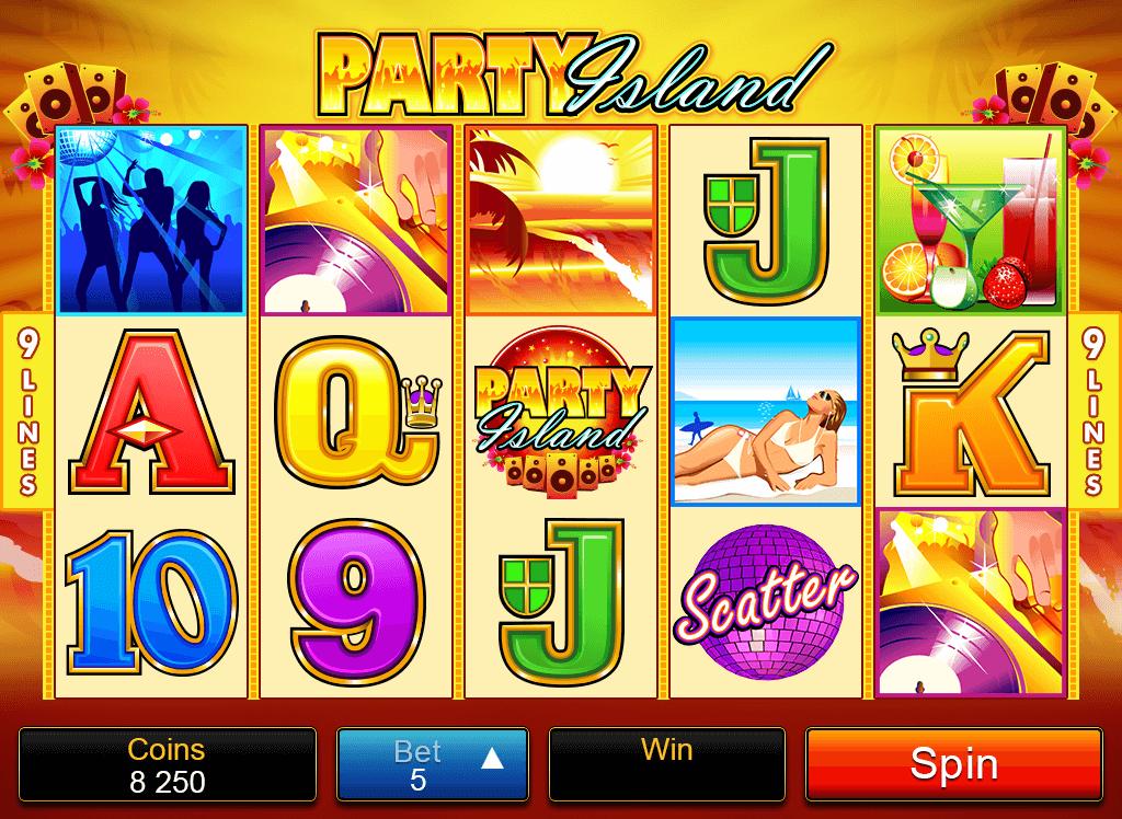 Party Island online pokies in Australia