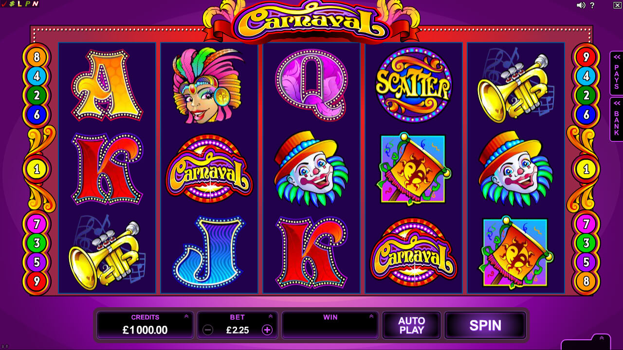 Carnaval Pokies Base Game