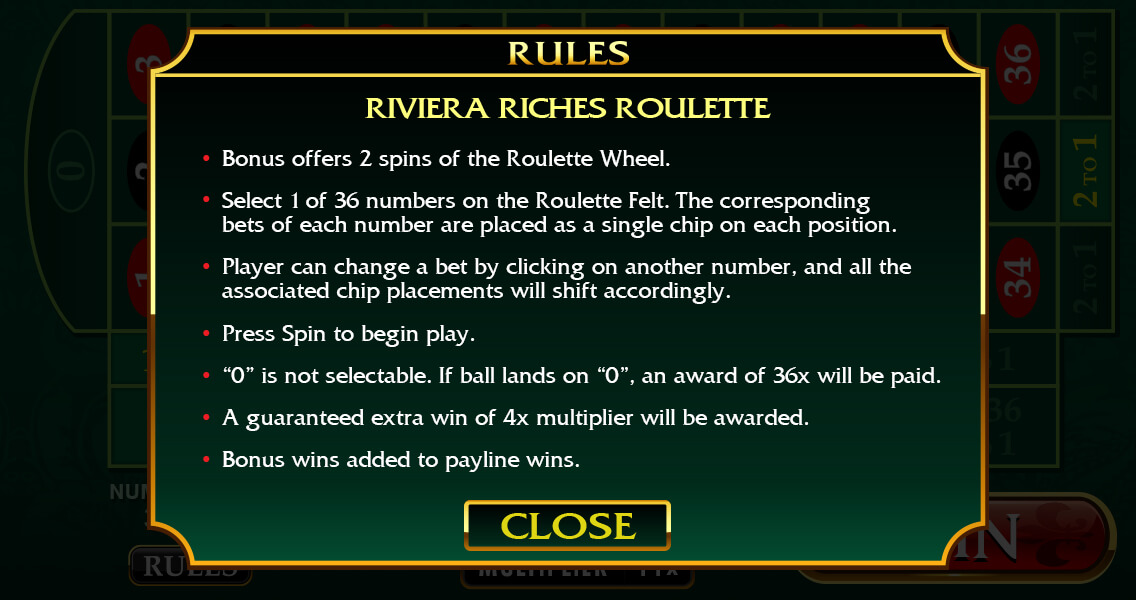 Riviera Riches Screenshot
