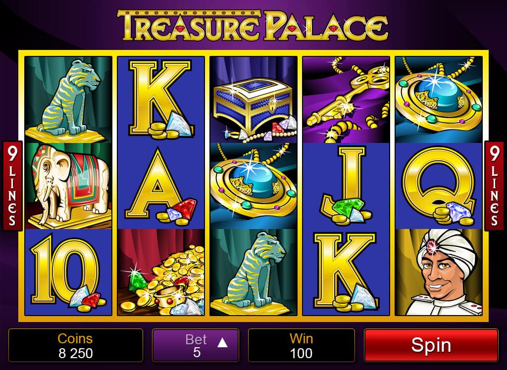 Treasure Palace Pokies Base Game