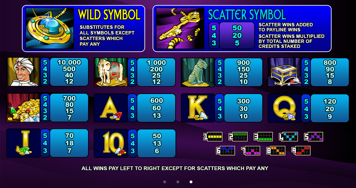 Treasure Palace Pokies Wilds and Scatter Symbols