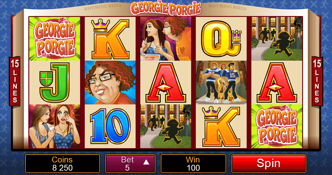 How to play Rhyming Reels Georgie Porgie Video Pokies