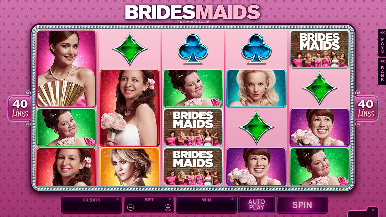 Bridesmaids Mobile Pokie Base Game