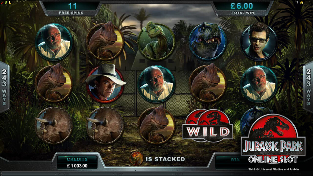 Jurassic Park Online Pokie Features