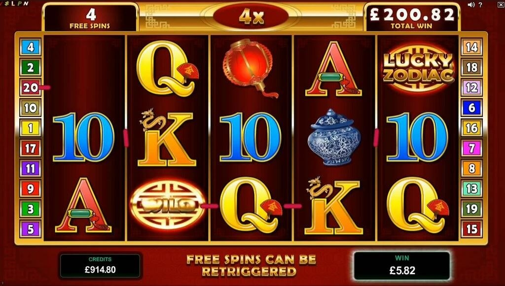 Lucky Zodiac online pokie game