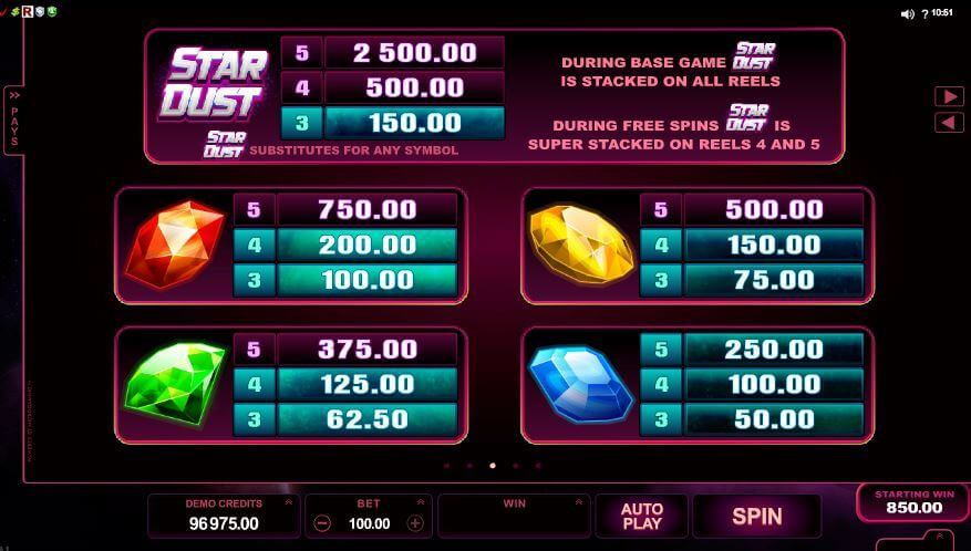 Star Dust online pokie