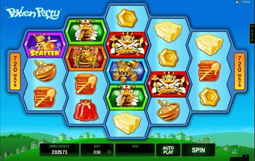 Pollen Party online pokie game